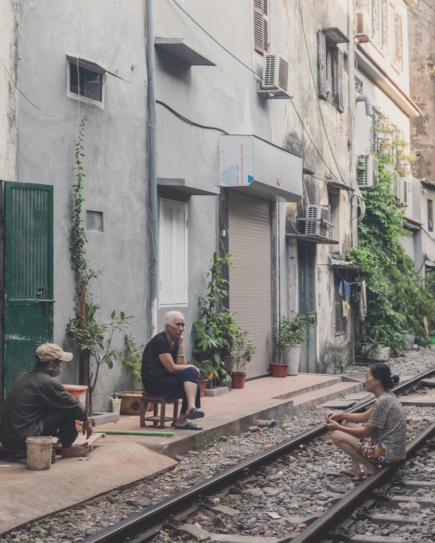 Locals of Train Street, Hanoi