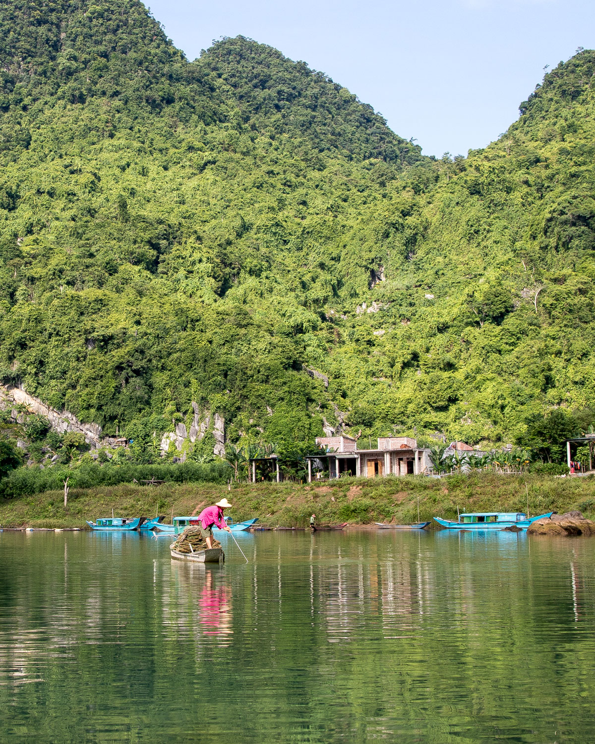 The views of Phong Nha from the river