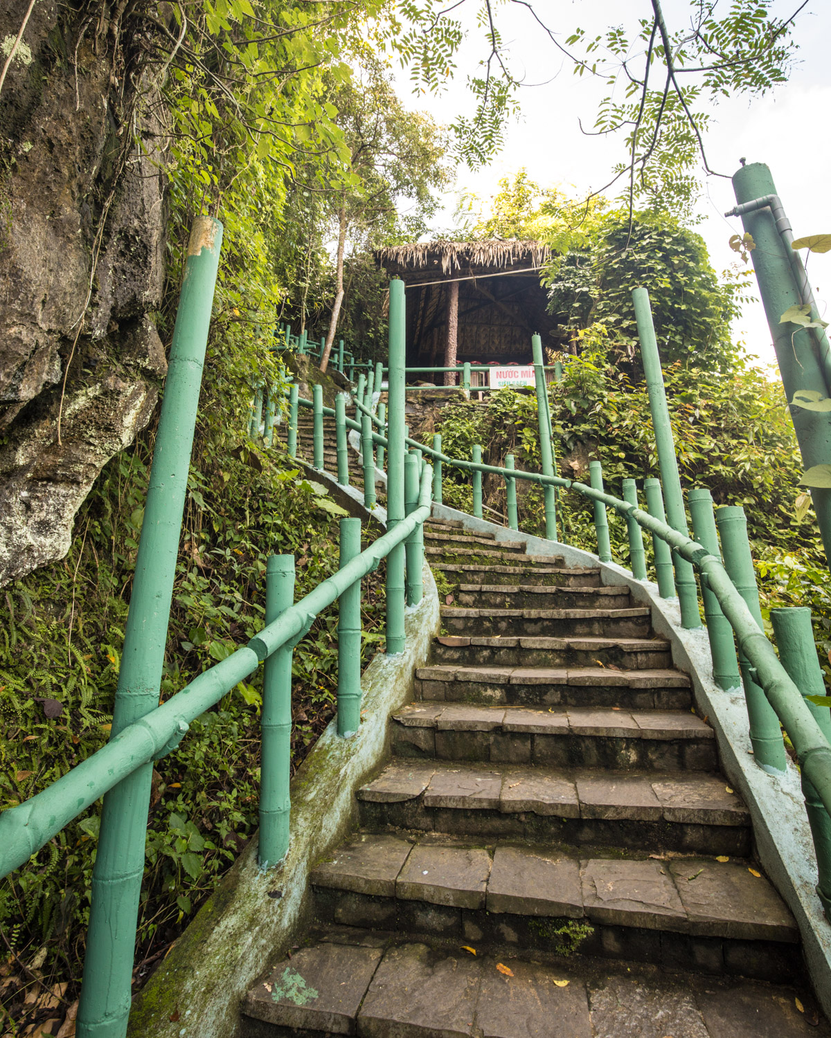 Phong Nha Ke Bang National Park - The stairs at Phong Nha Cave