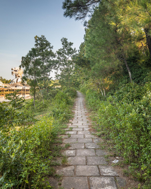 The paths at Ho Thuy Tien, Hue