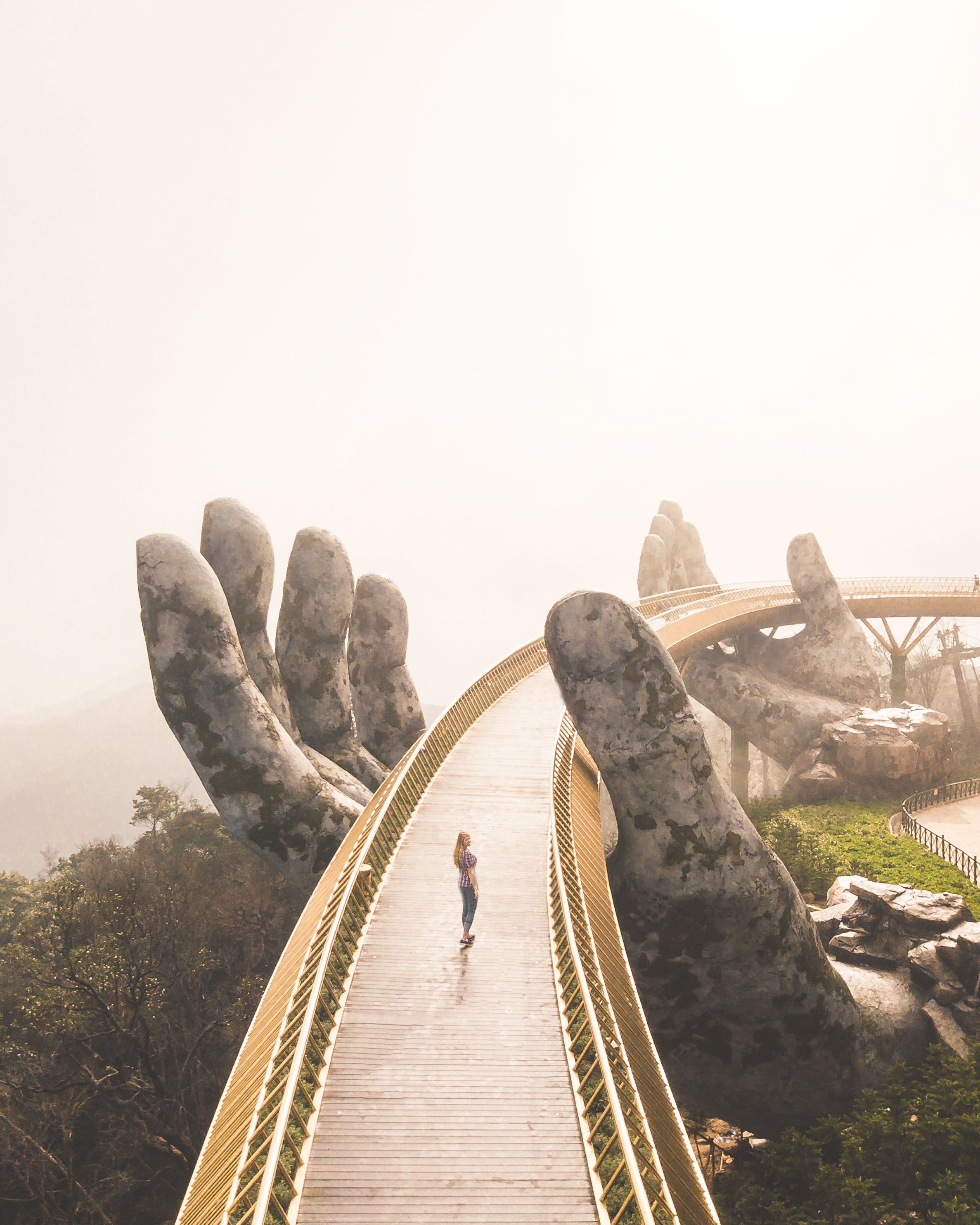 Instagram Spots in Vietnam - Golden Hand Bridge, Ba Na Hills