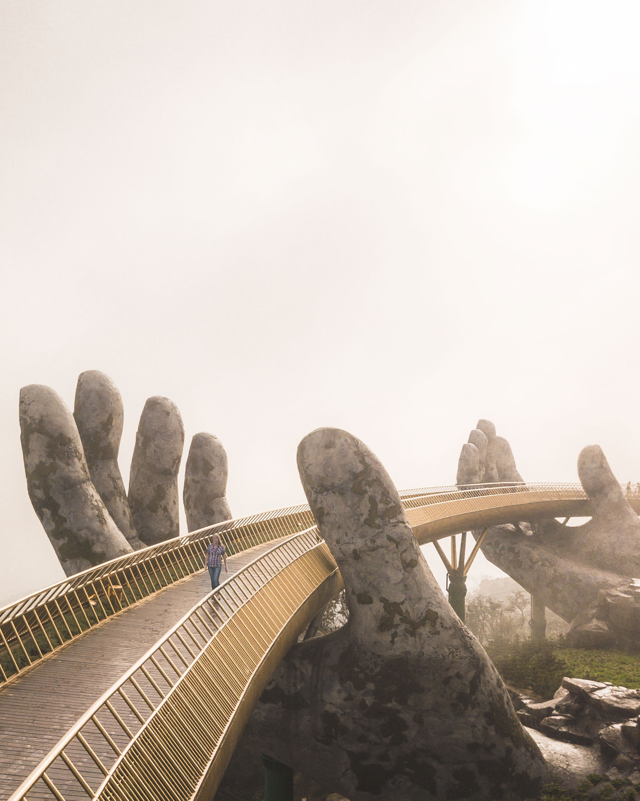 Things to do in Da Nang - Golden Bridge in Sun World