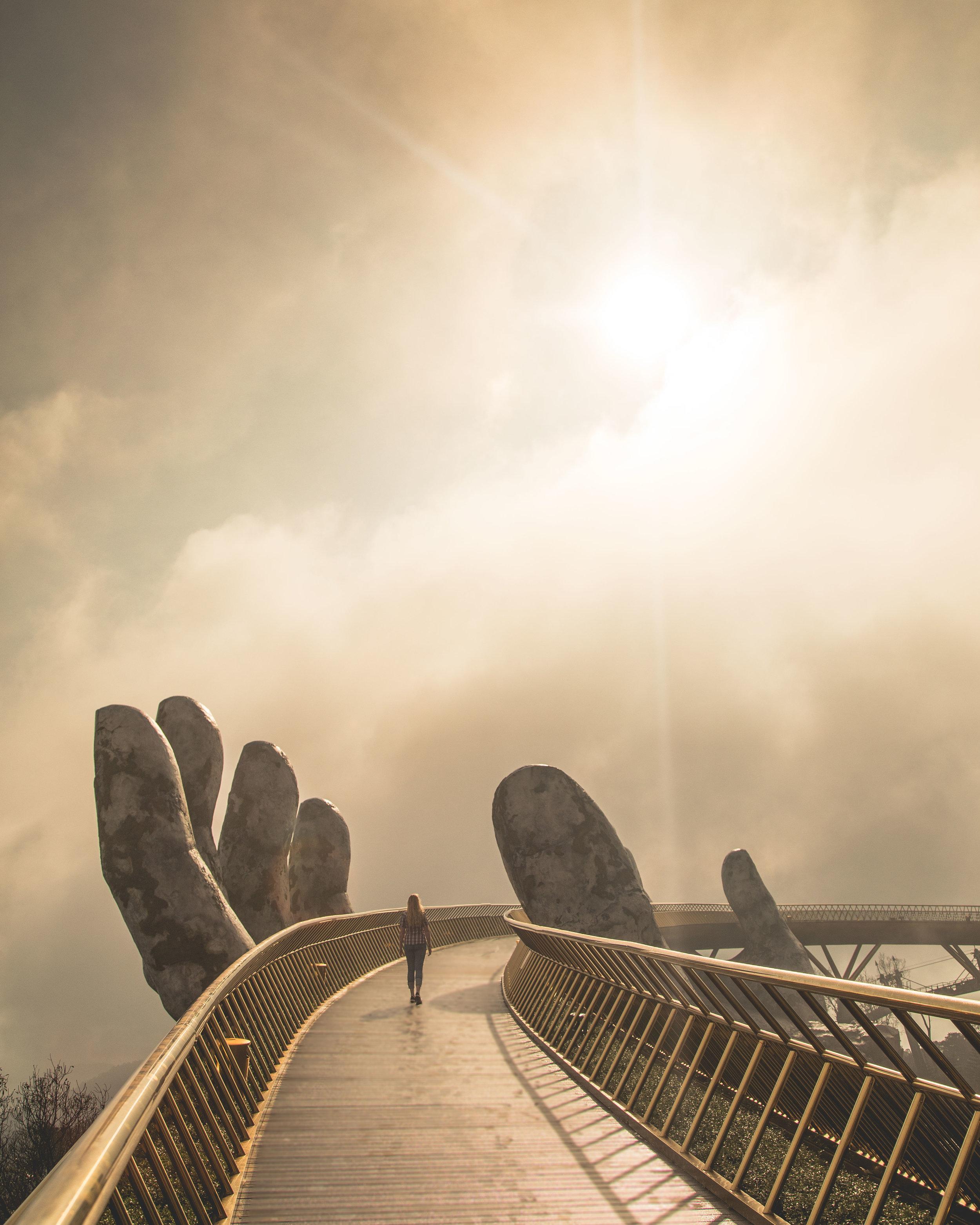 What to do in Da Nang - Golden Hand Bridge at Ba Na Hills