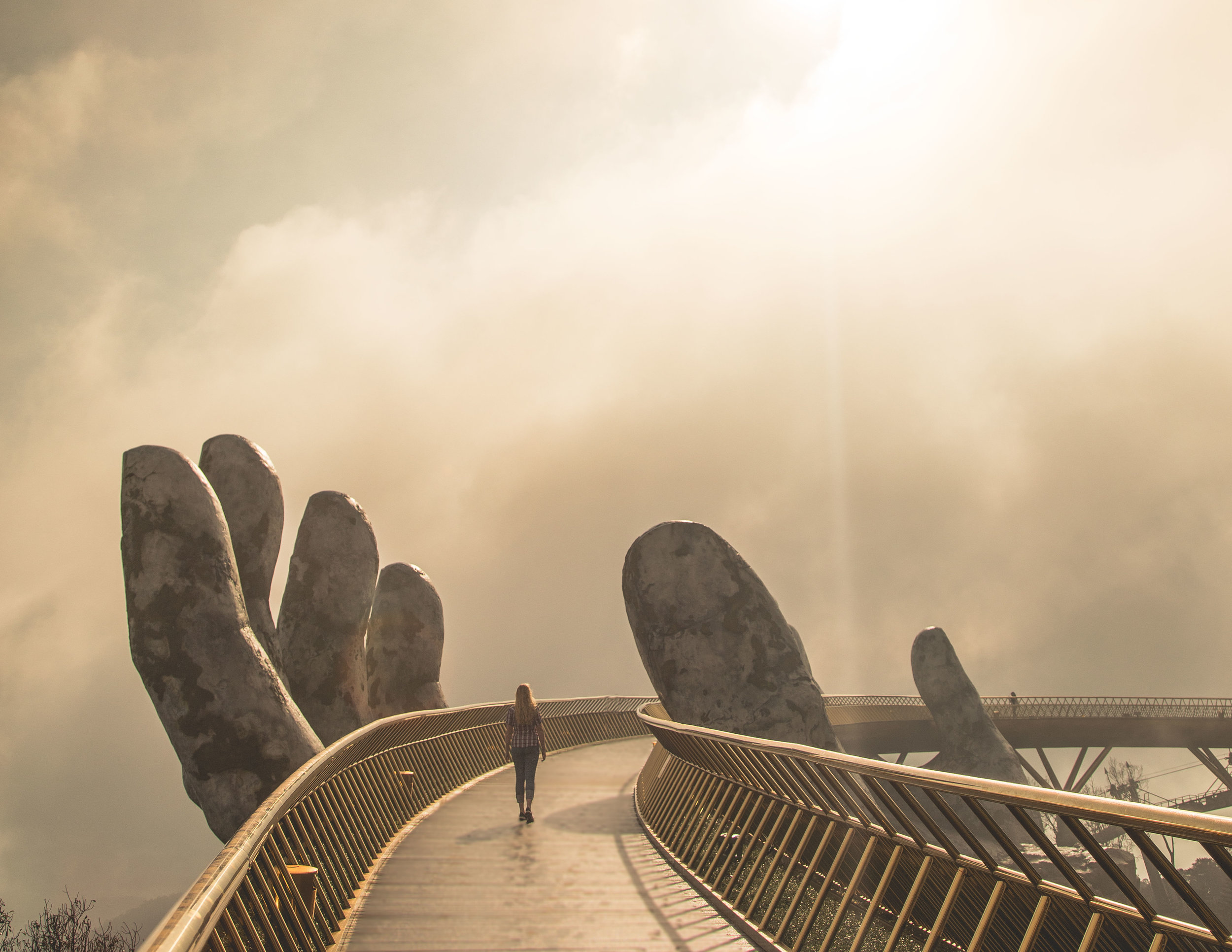 Golden Hand Bridge in Da Nang, Ba Na Hills Vietnam