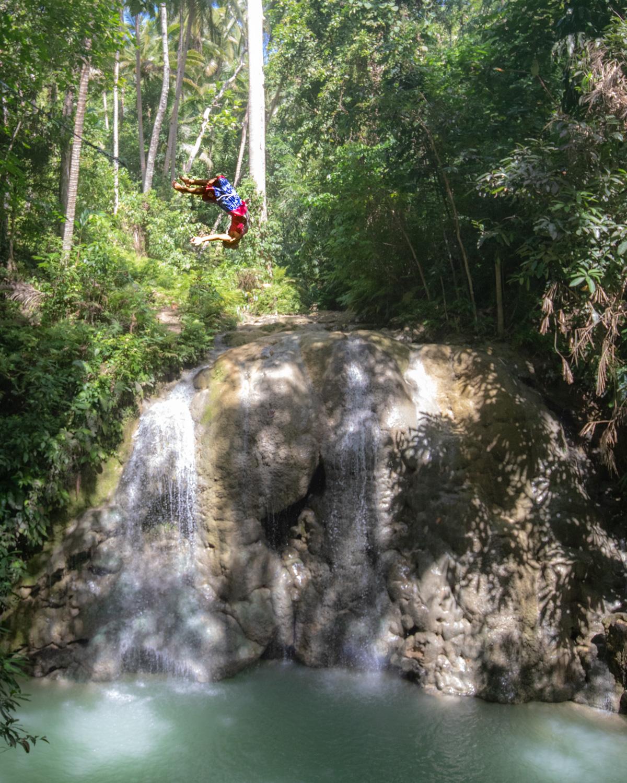 Lugnason Falls in Siquijor Island