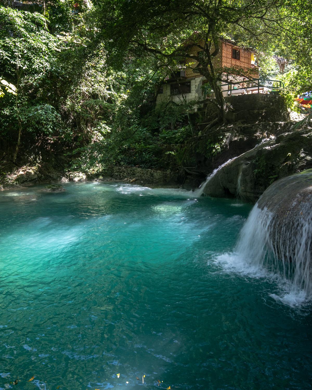 The second waterfall in Kawasan Falls, Cebu, The Philippines