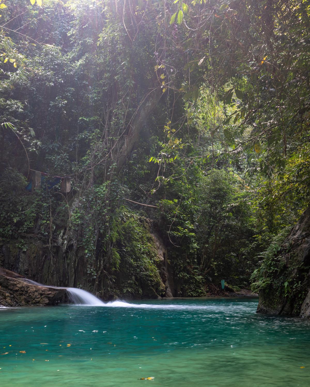 Third level of Kawasan Falls, Cebu City, The Philippines
