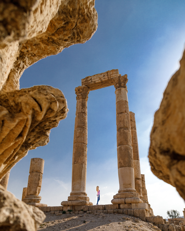 Backpacking Jordan - Visiting the Citadel in Amman