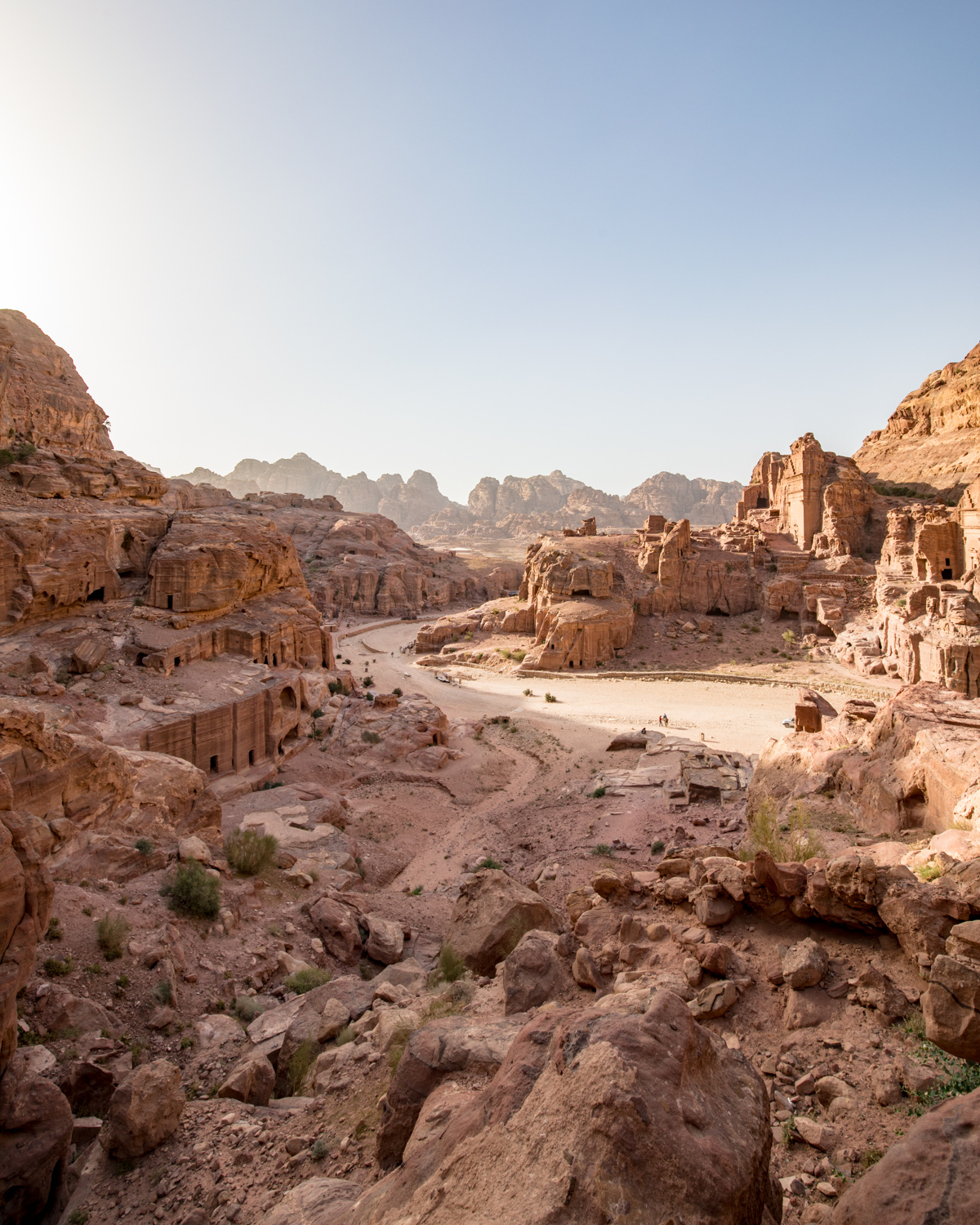The ruins of the ancient city of Petra