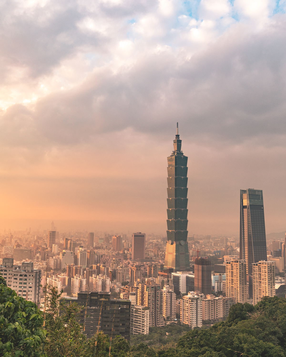 The best views in Taipei - The second viewpoint on Elephant Mountain