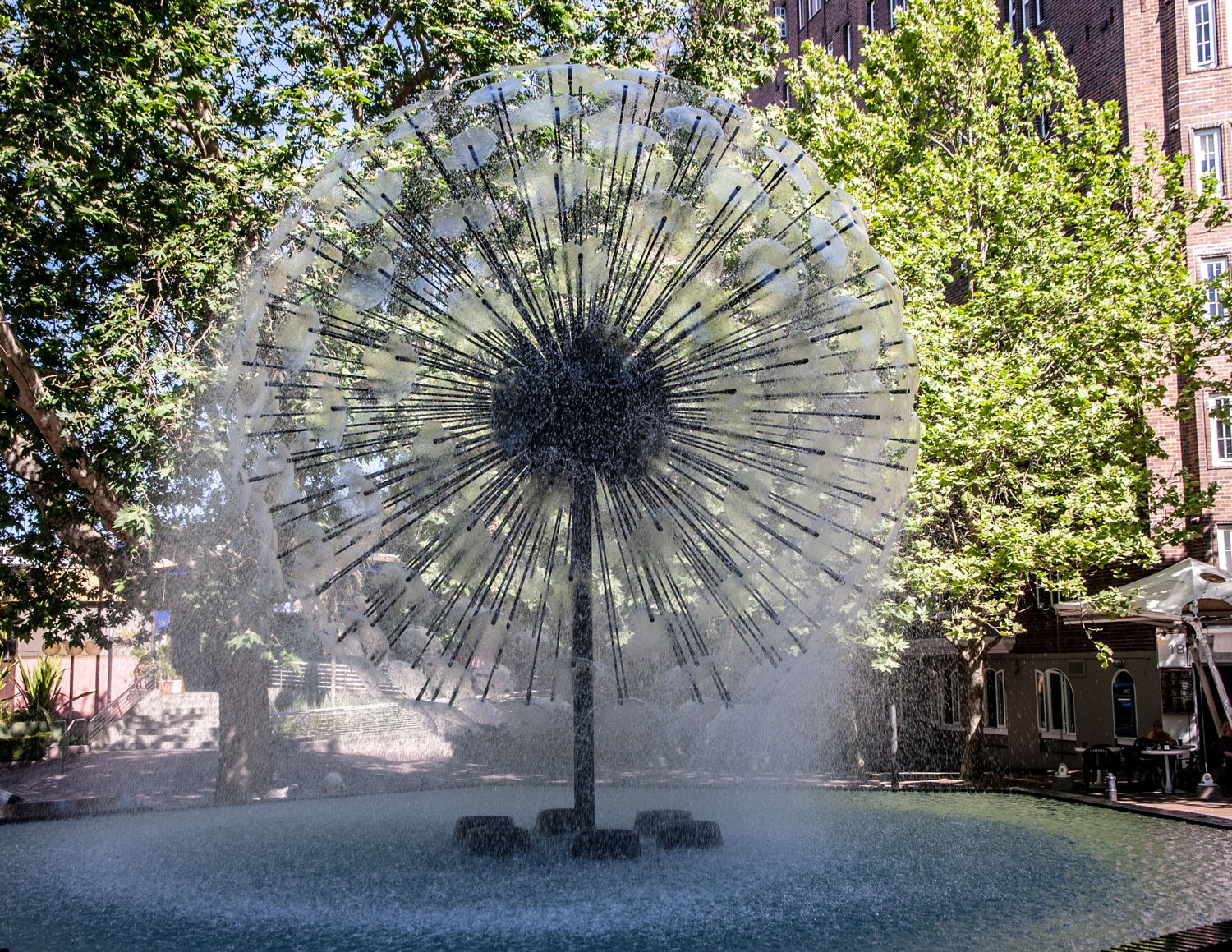 The fountain in Kings Cross