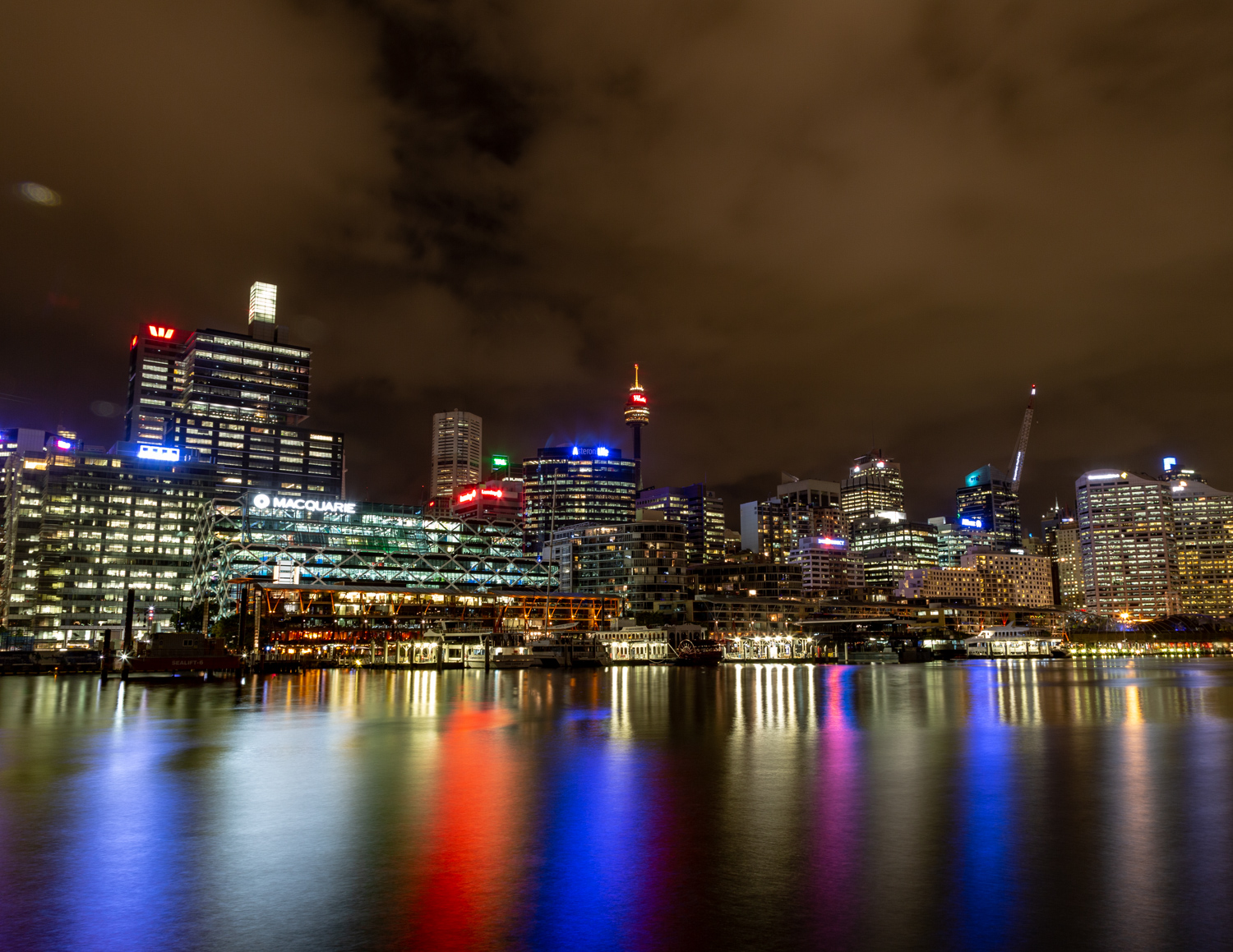 King Street Wharf at night, Darling Harbour