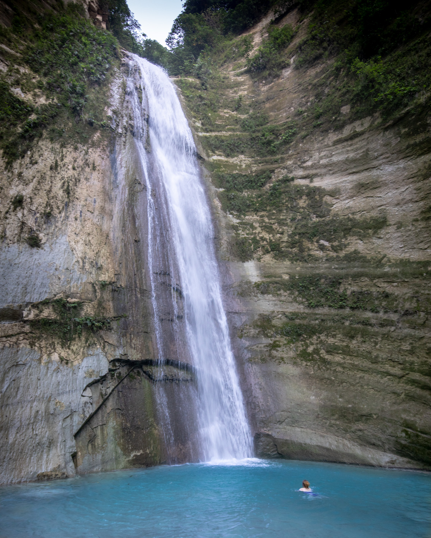 The main pool at Dao Falls