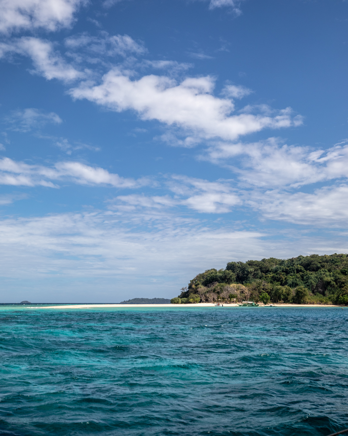 The views of Ditatayan Island from the boat, Coron Palawan