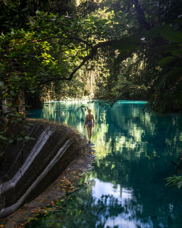 The dam at the top of Kawasan Falls - Best Waterfalls in Cebu