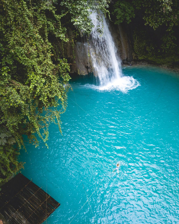 The waterfalls at Kawasan