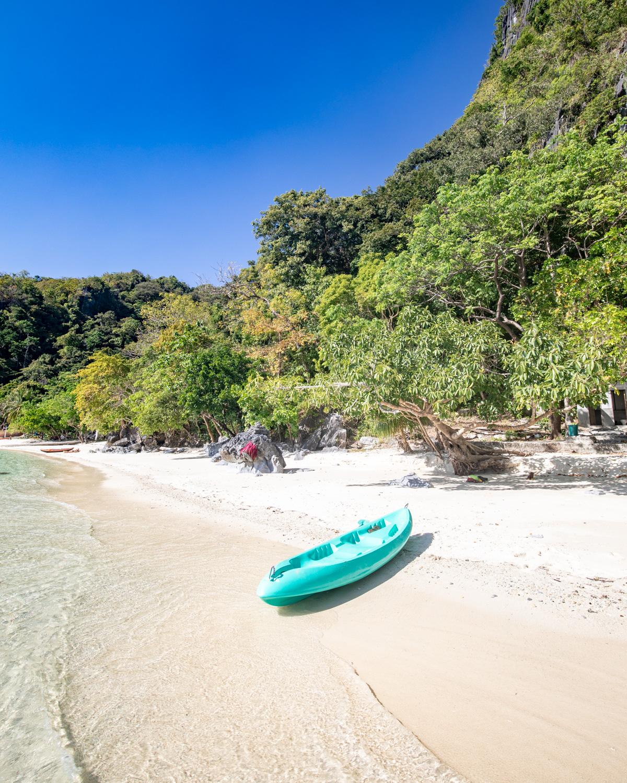 Beaches you can reach by kayak in El Nido, Palawan