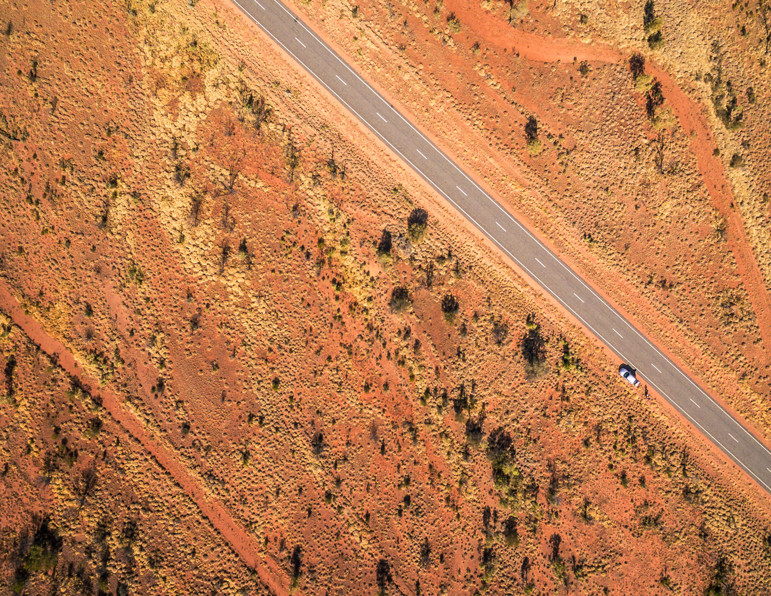 Outback road trip itinerary - Drone view of the Outback