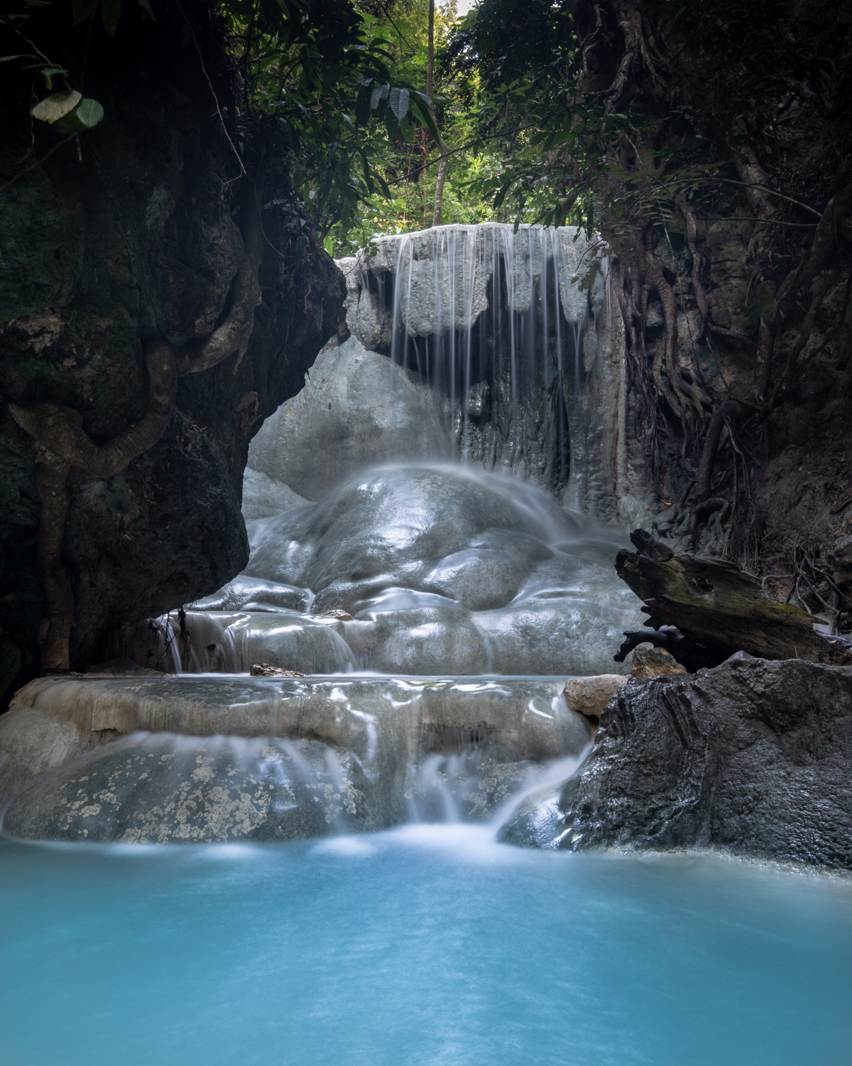 Aguinid Falls Entrance Fee - the third level of the waterfall