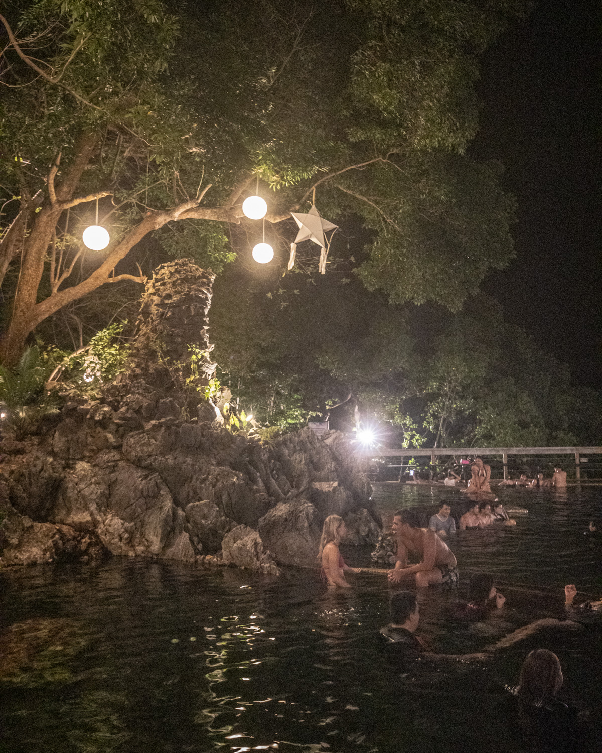 Maquinit Hot Springs at night - Things to do in Coron