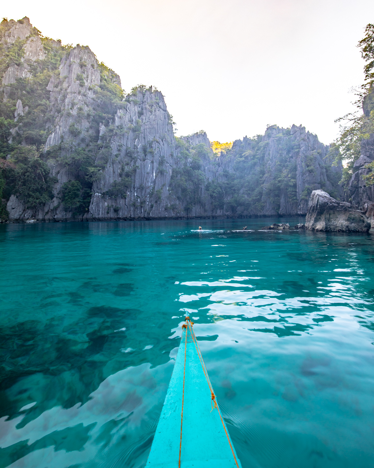 The tiny little boat by the Twin Lagoon, Coron Palawan