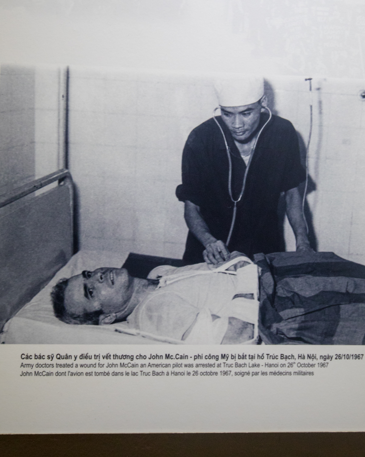 The case of John McCain - if it wasn't for Hoa Lo, he probably would have died from his injuries from the plane crash. What they don't tell you is that the guards tortured him so severely that he couldn't lift his arms above his shoulders for the rest of his life.