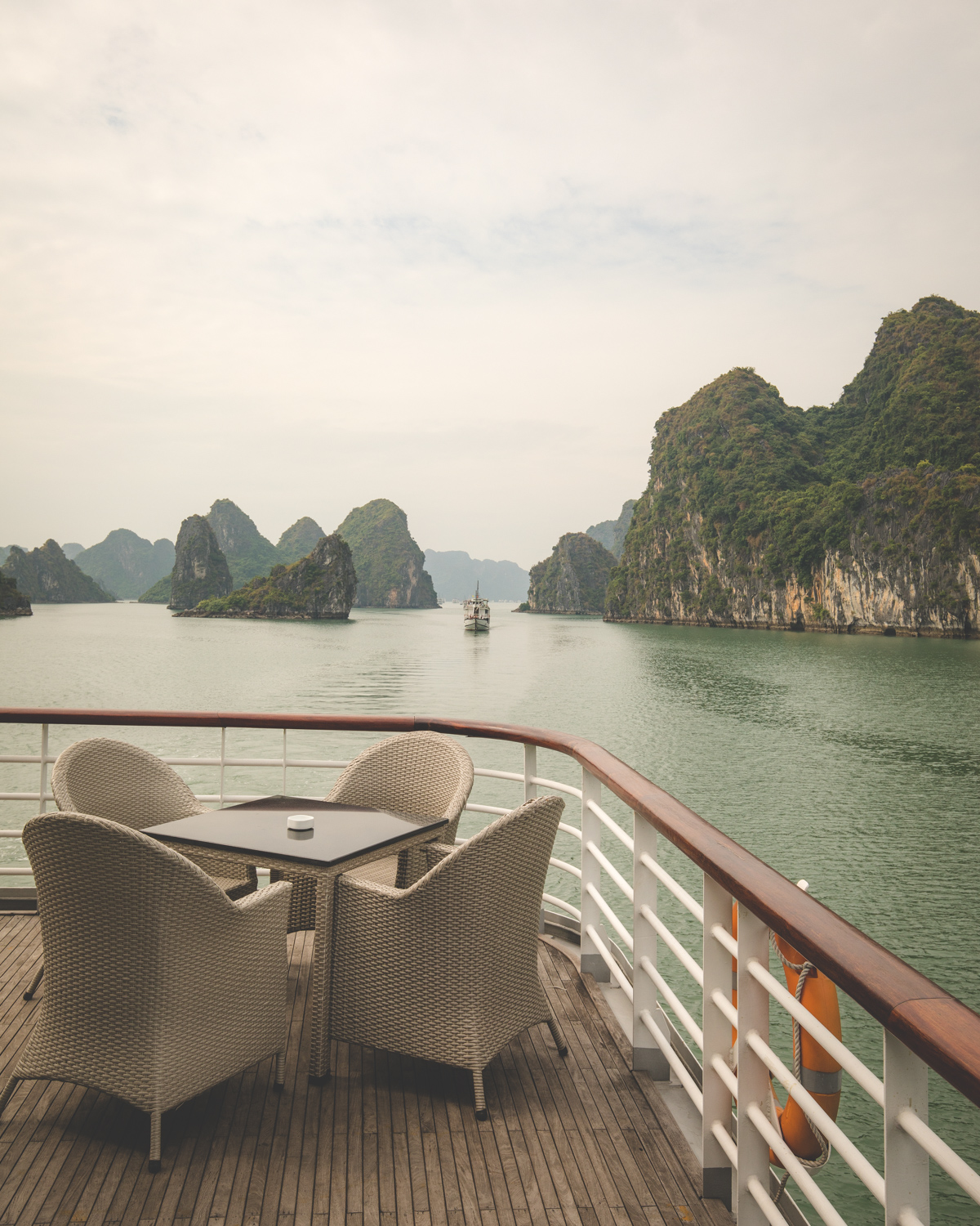 The beauty of Halong Bay from our boat
