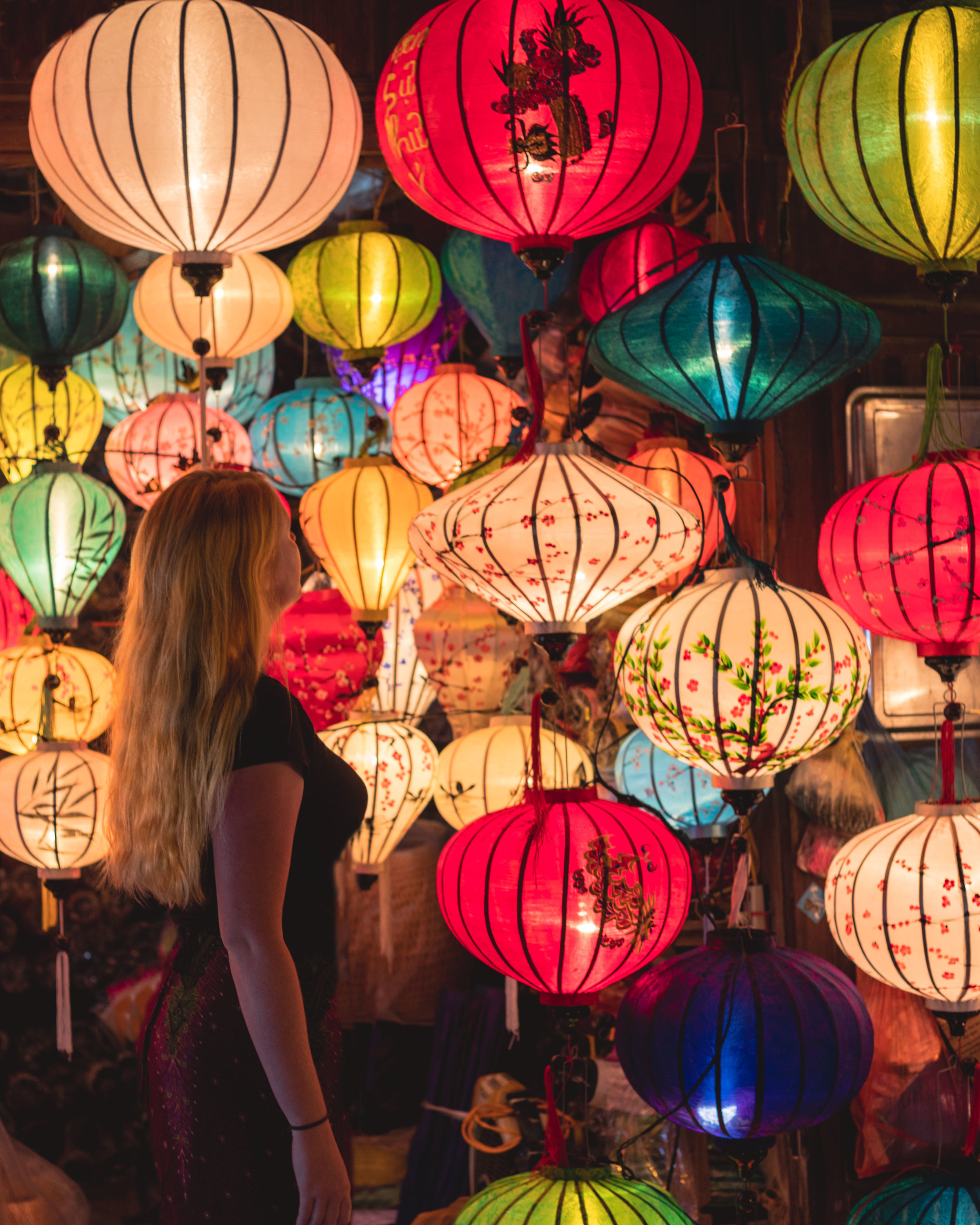 The characteristic lanterns of Hoi An