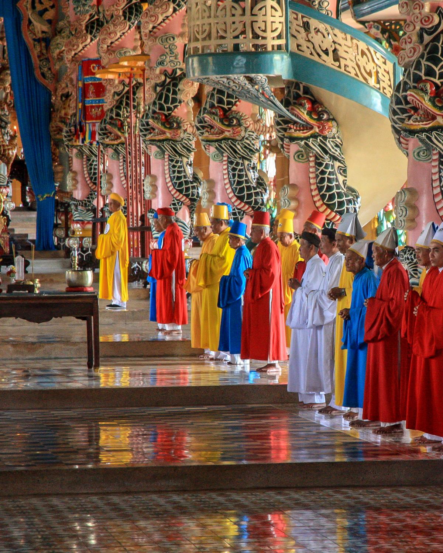 A unique ceremony at the Cao Dai Temple
