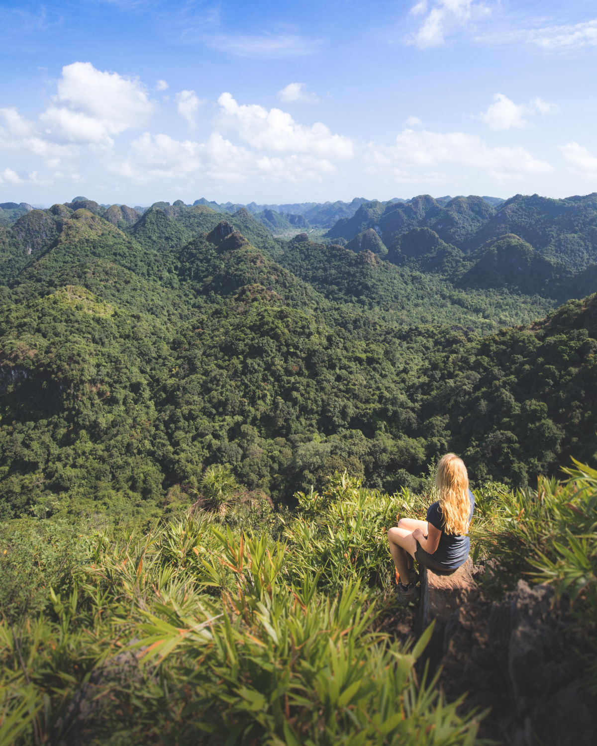 The stunning view from Ngu Lam Peak on Cat Ba Island