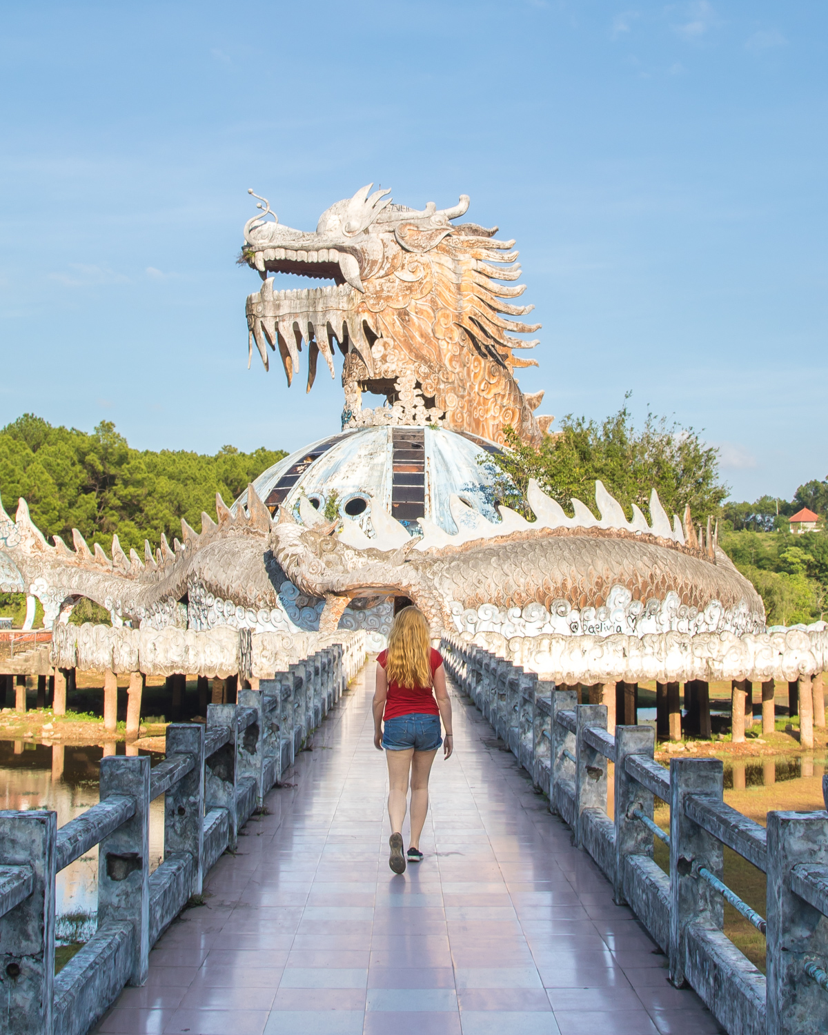 The abandoned water park in Hue