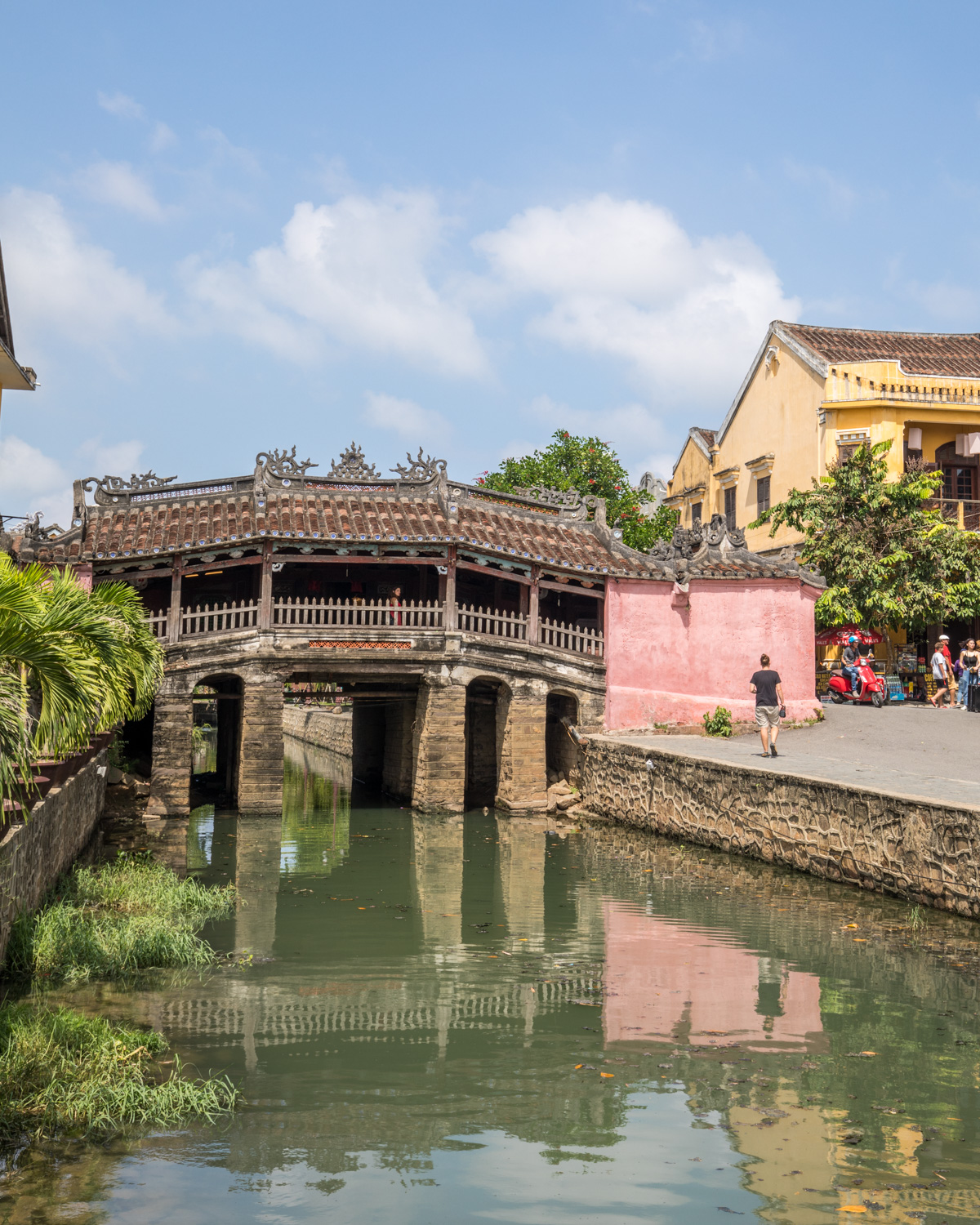 The beautiful Japanese Bridge in the Old Town of Hoi An
