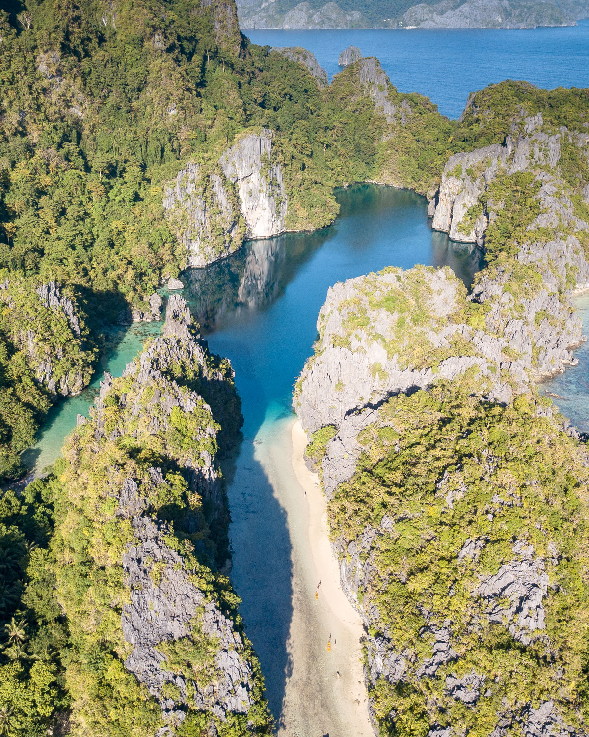 The Big Lagoon from above