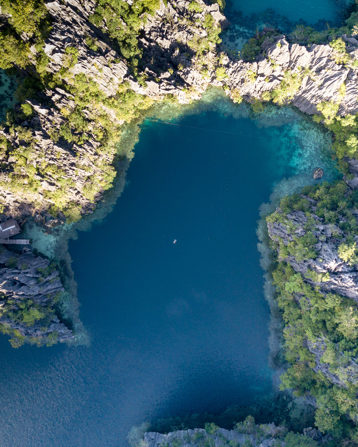 The incredible Twin Lagoon from above