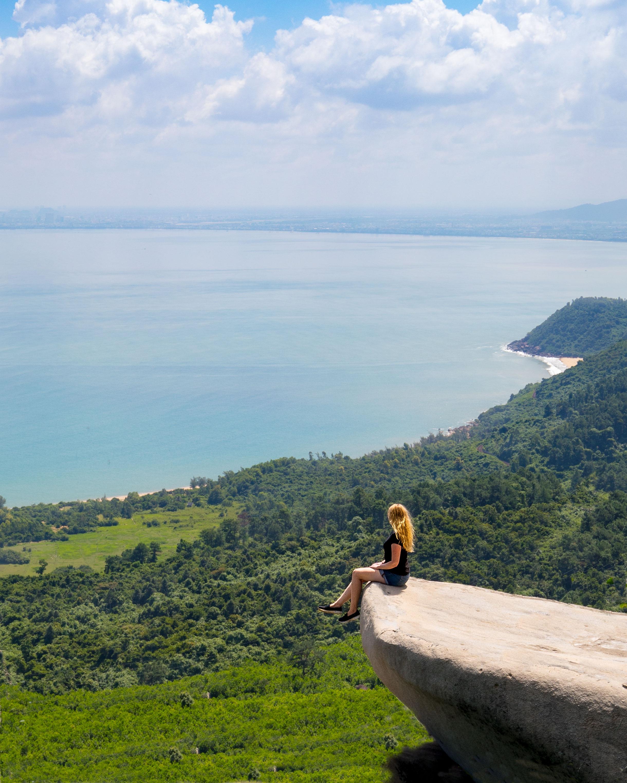 An epic lookout at the Hai Van Pass near Da Nang and Hoi An