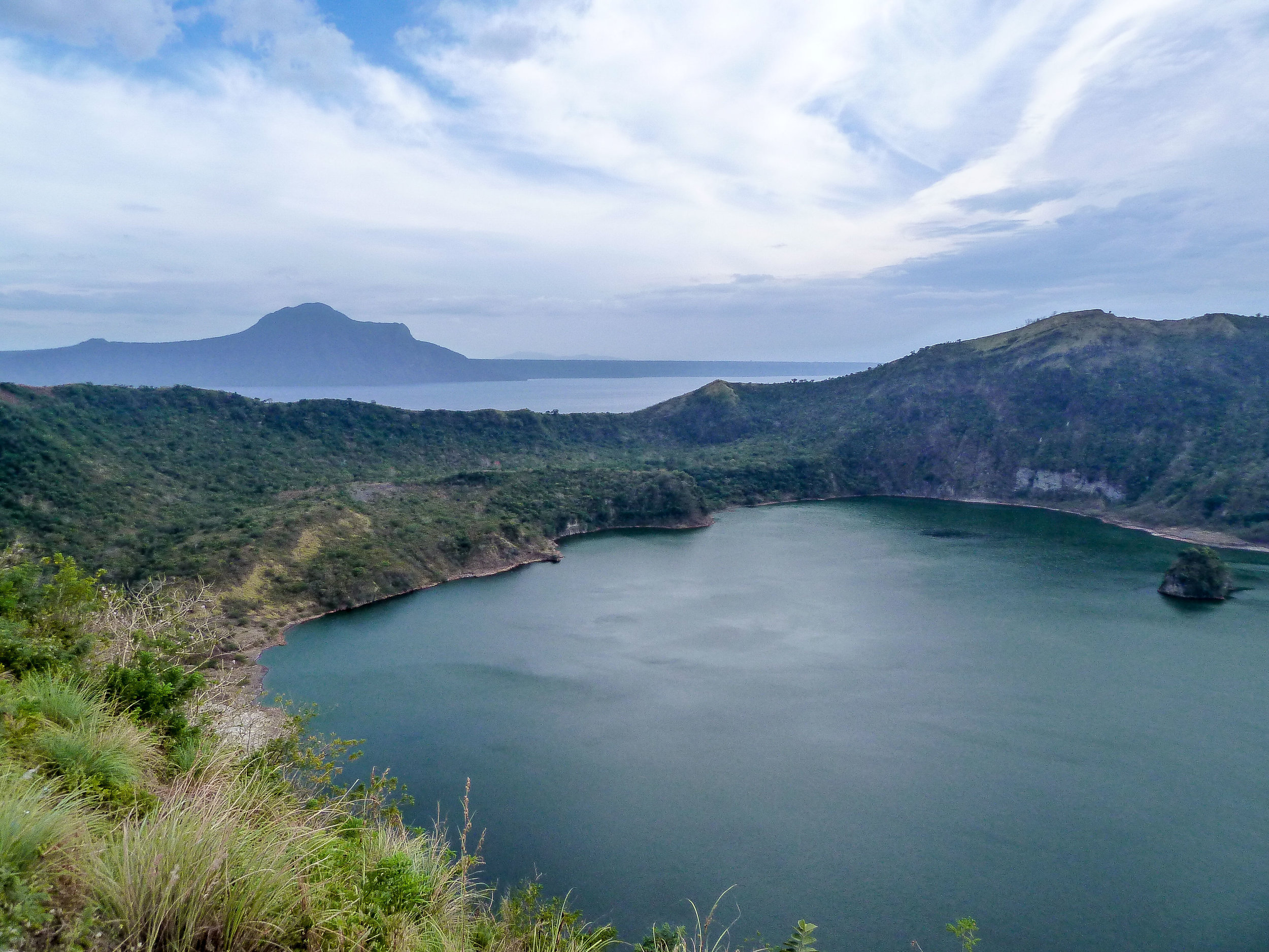 The lake in the volcano at Tagaytay