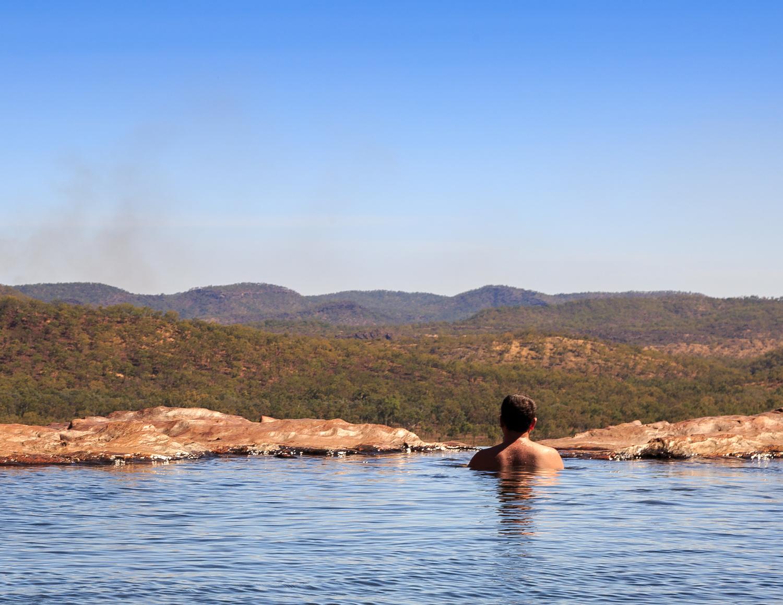 The infinity pool at Gunlom Falls - Kakadu