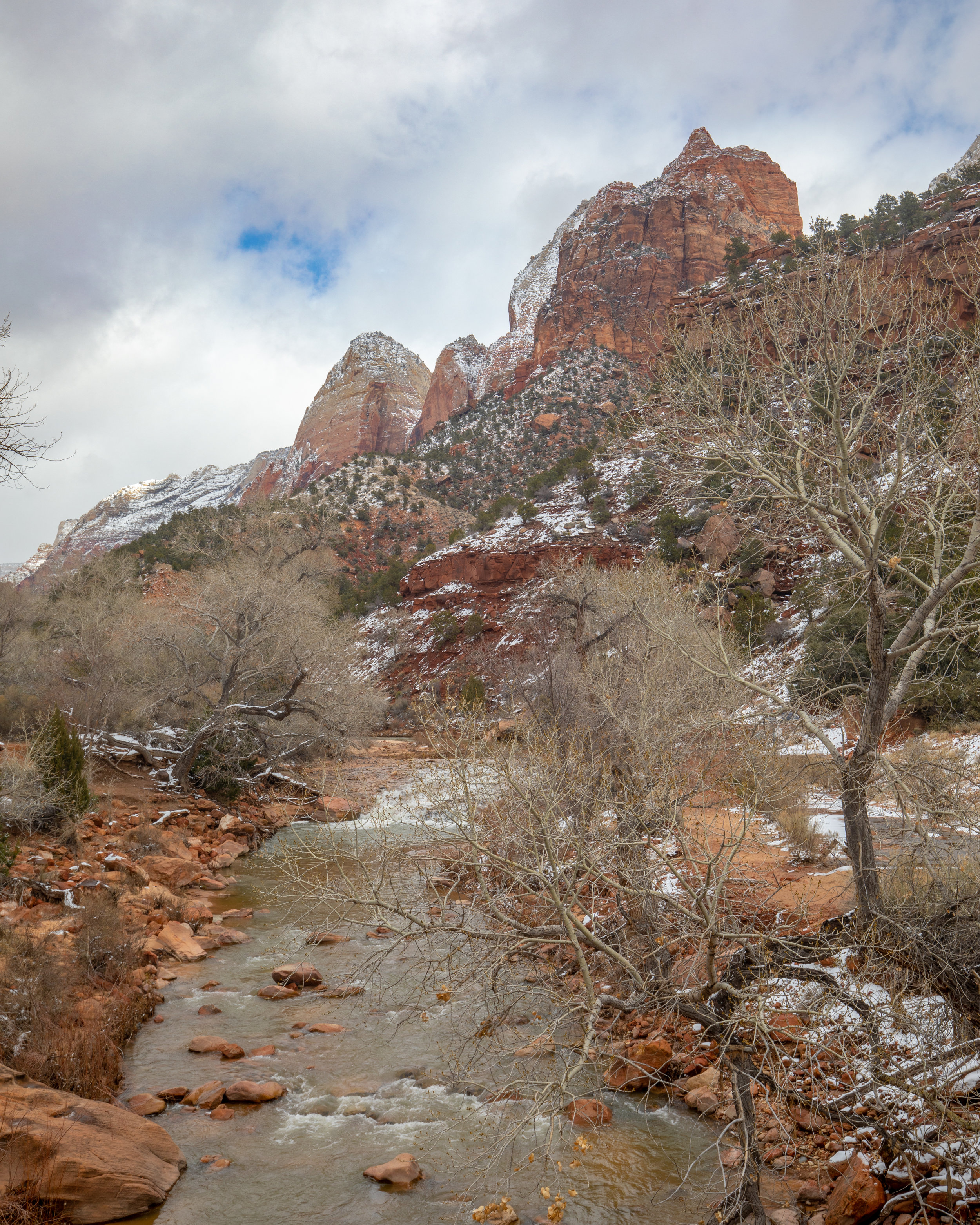 The Virgin River that follows the Par'us Trail