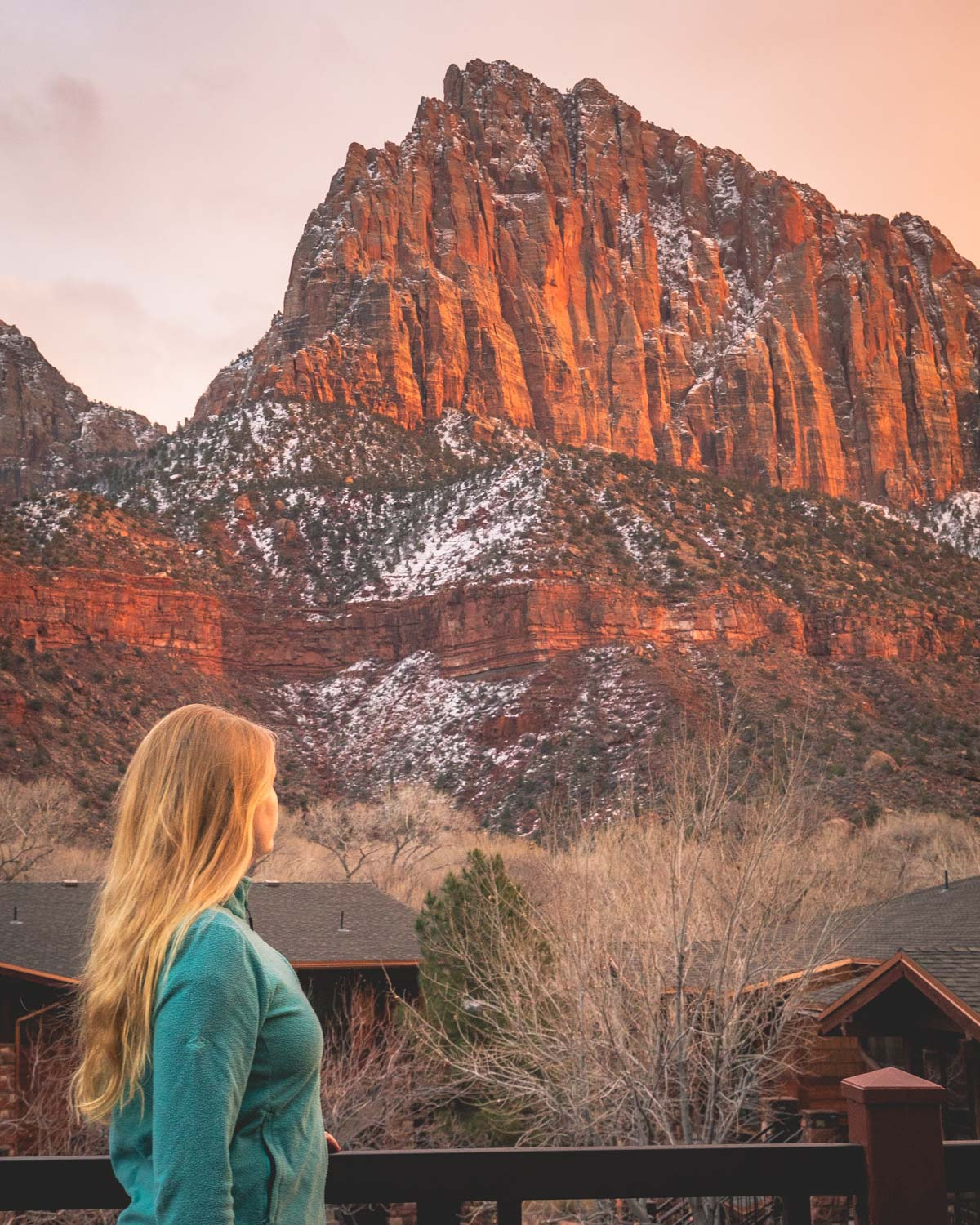 The views of the Watchman for the Cable Mountain Lodge in Springdale