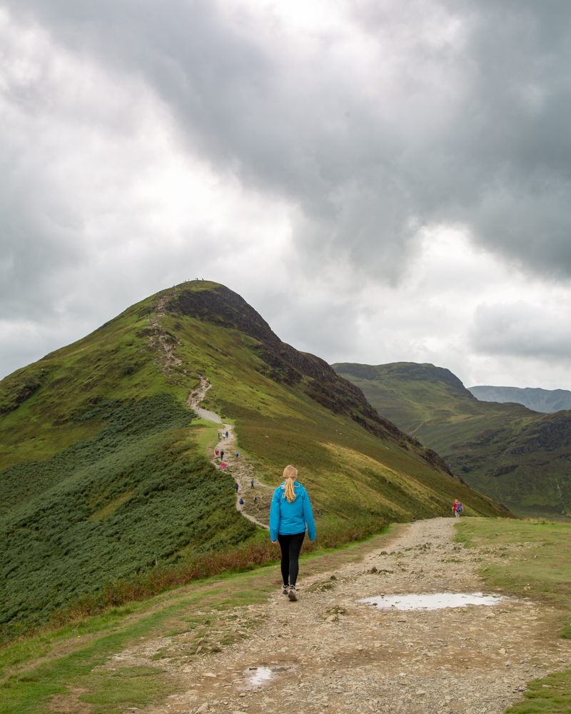The hike up to the top of Cat Bells