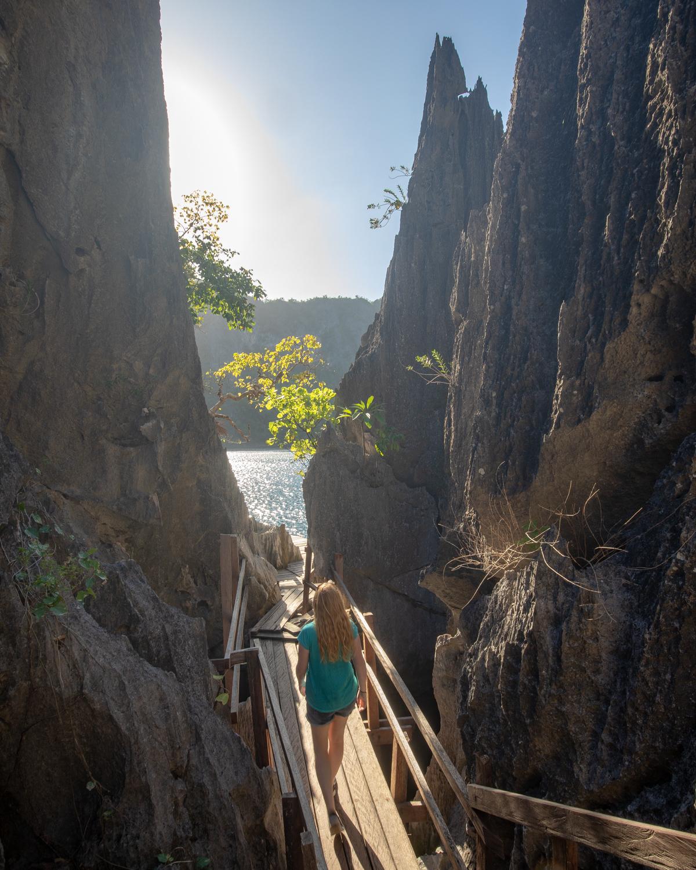 The path to Barracuda Lake, Coron
