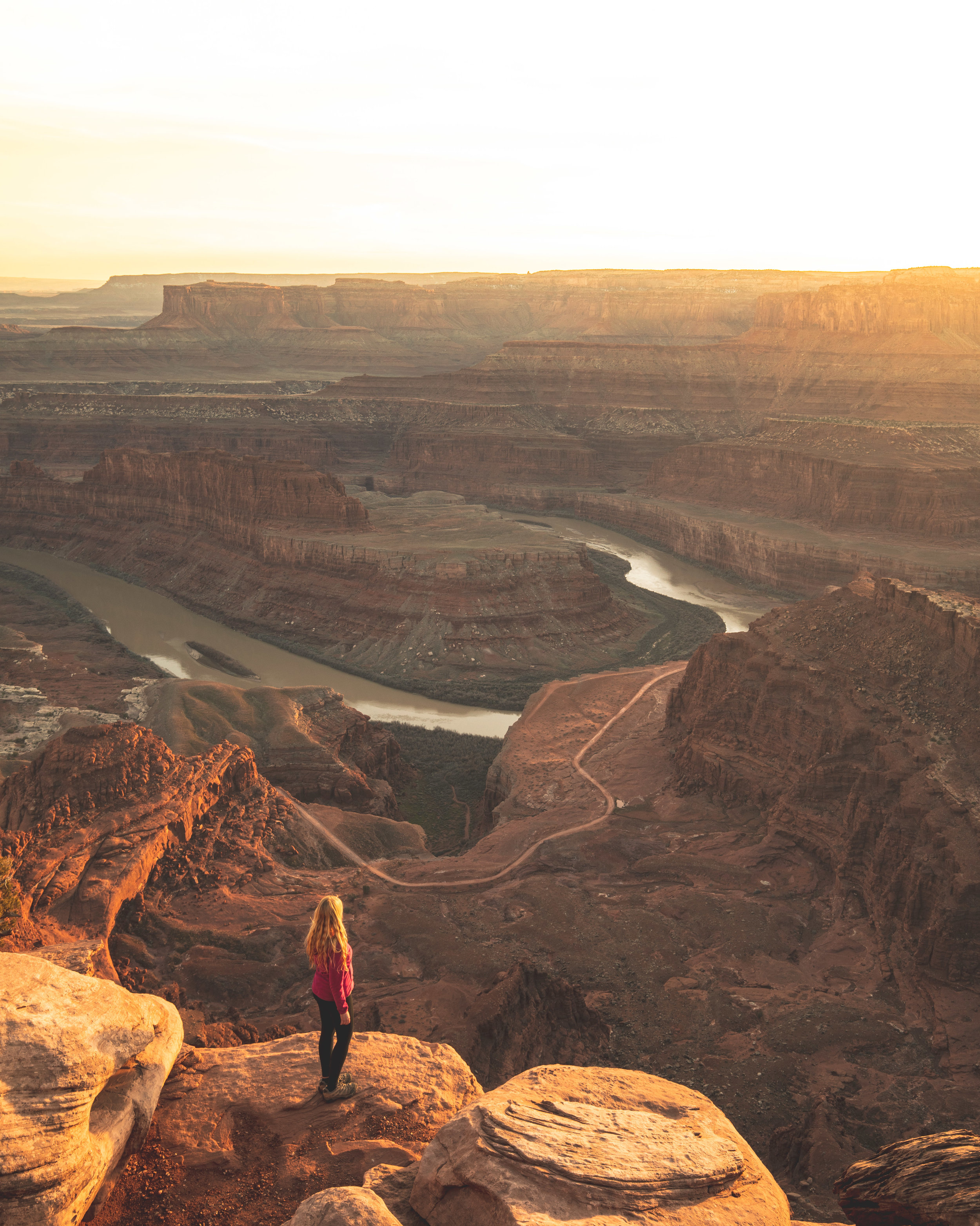 Sunset from the rocks below Dead Horse Point Overlook