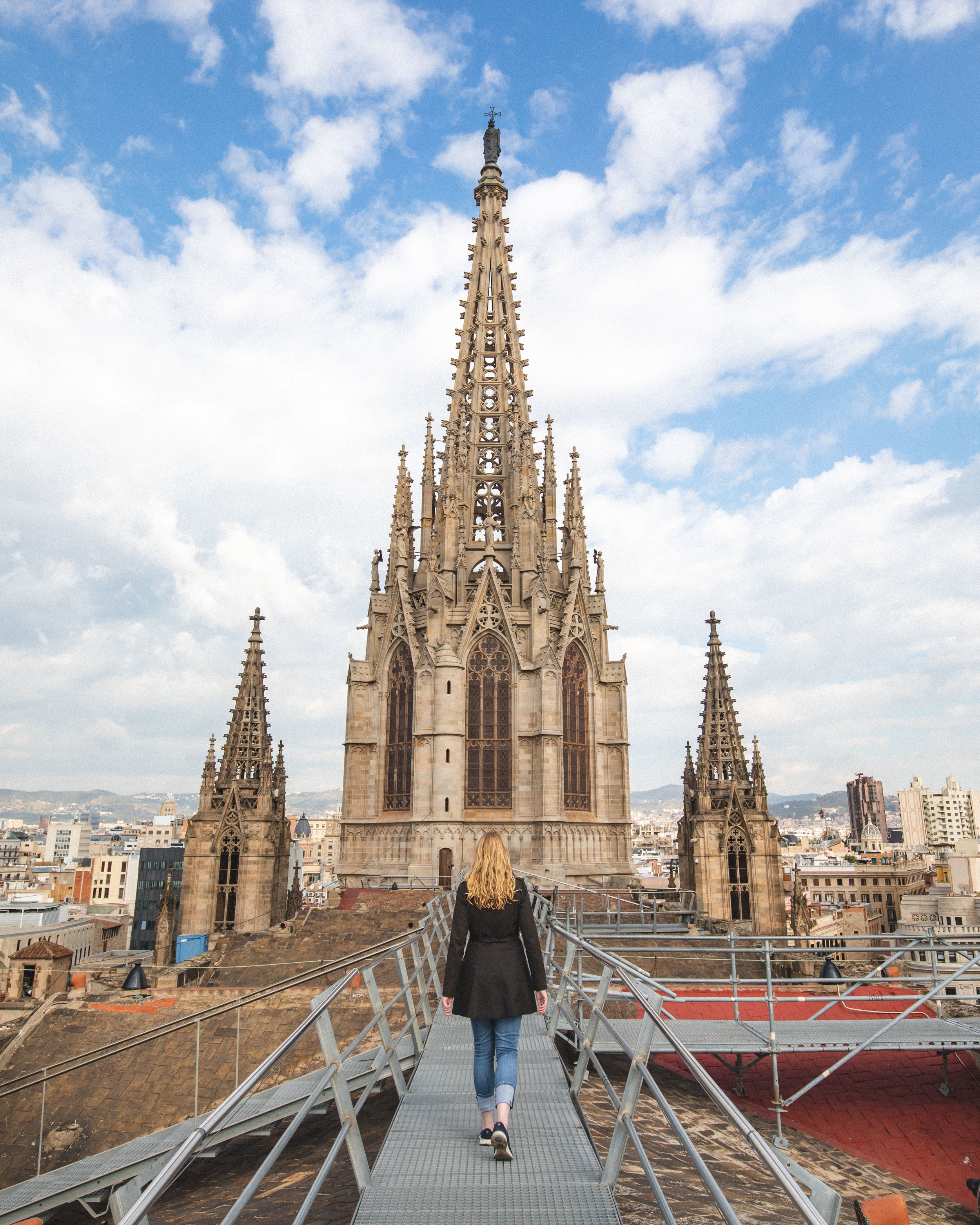 Rooftop at Barcelona Cathedral - Instagrammable places in Barcelona
