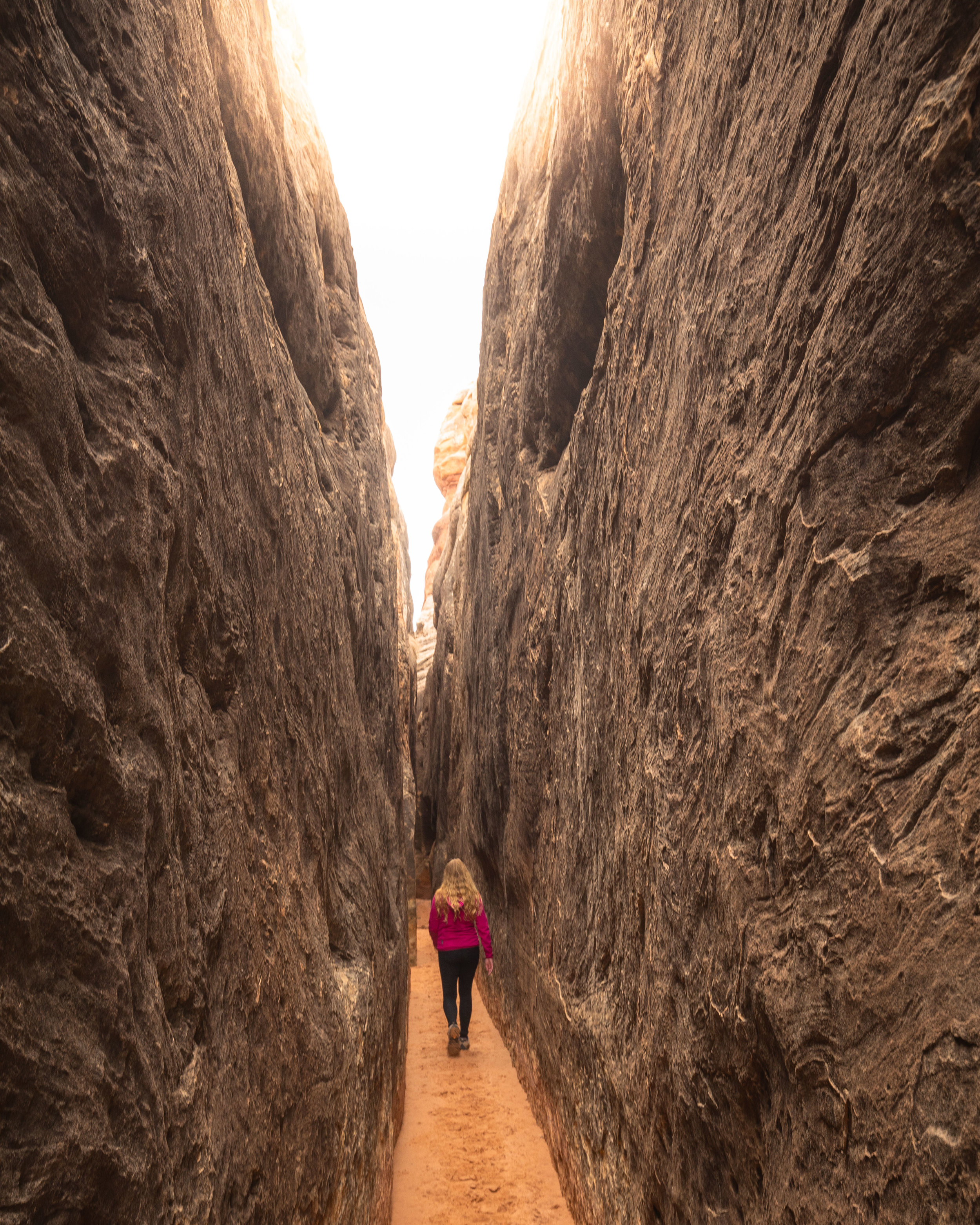The slot canyon in Needles, Canyonlands National Park