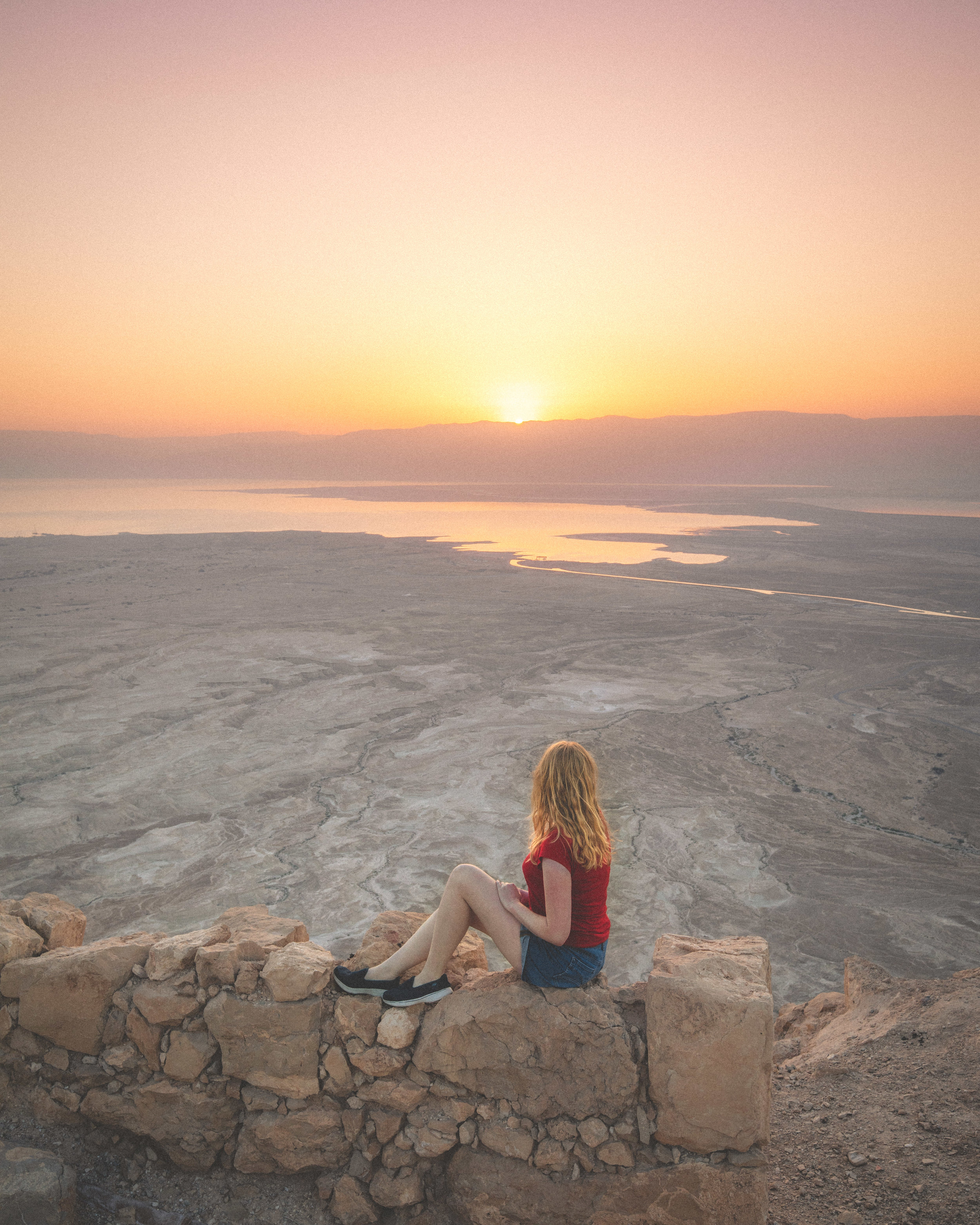 Sunrise at Masada Fortress