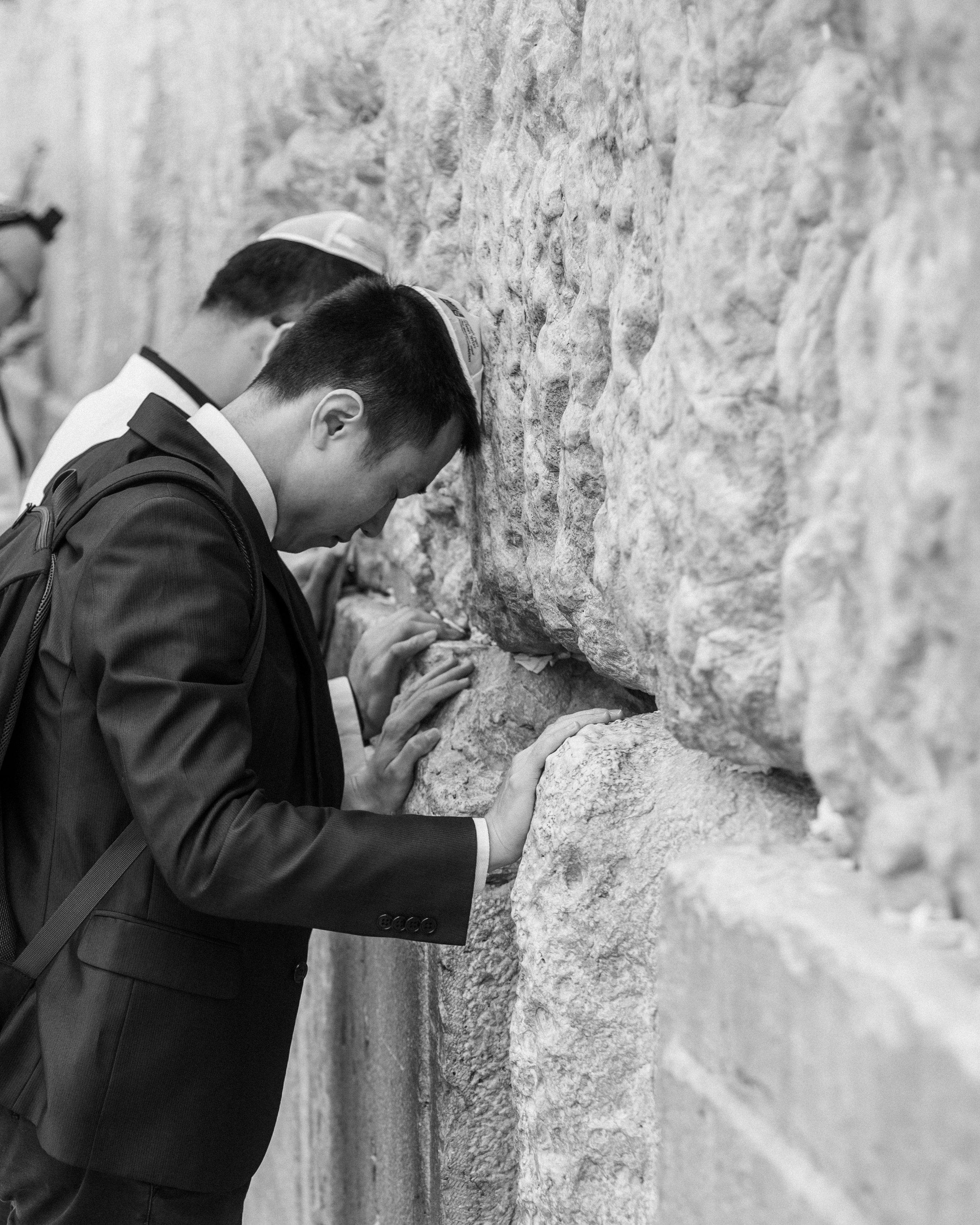 Jewish prayers at the Western Wall