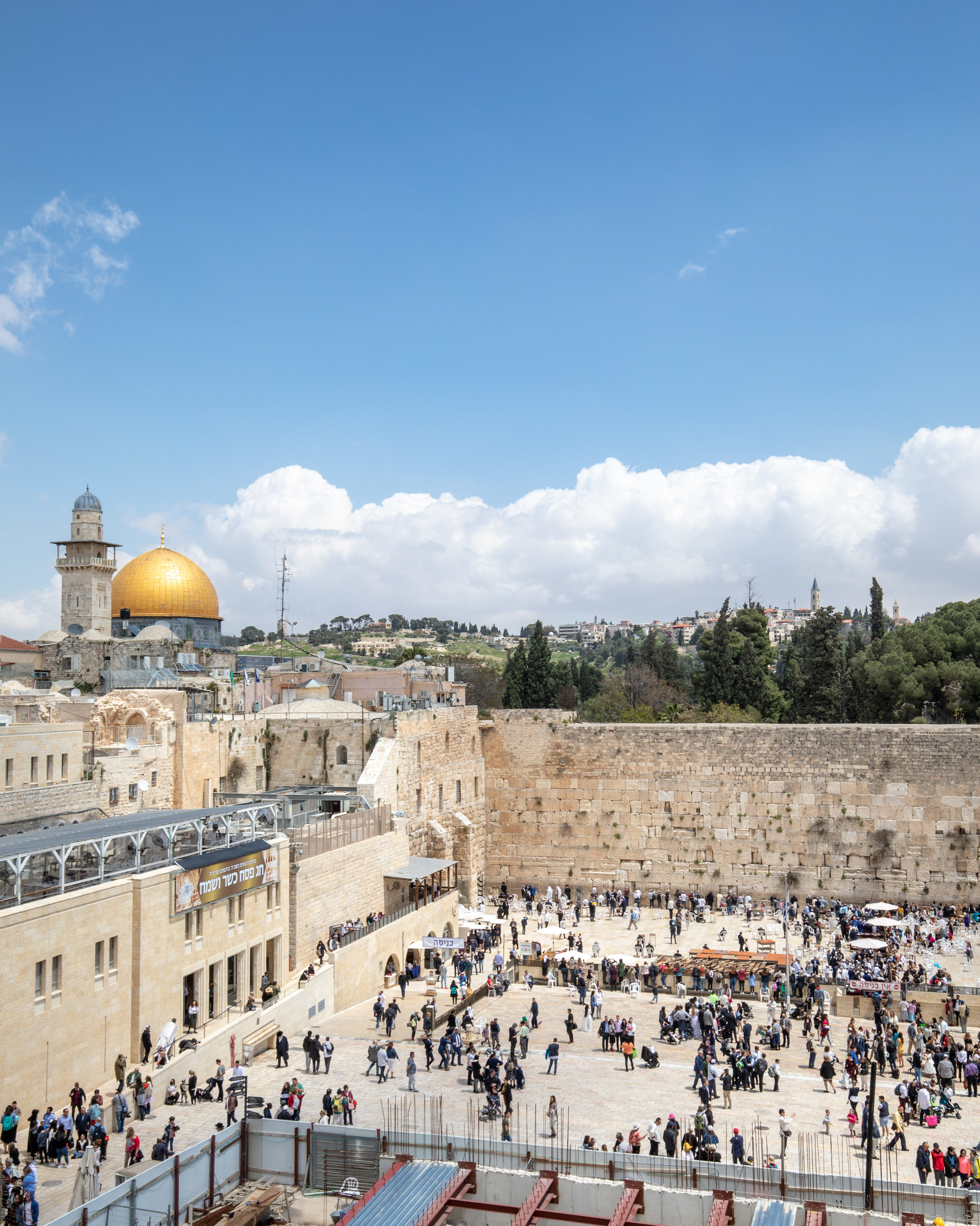 The viewpoint of the Western Wall