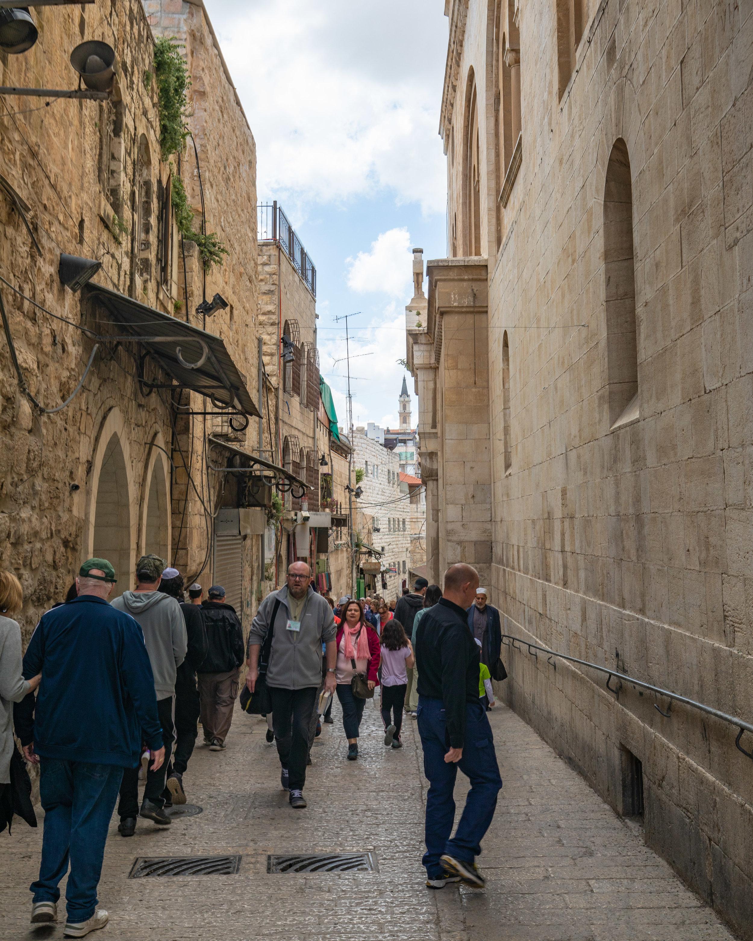 The Via Delarosa, Jerusalem