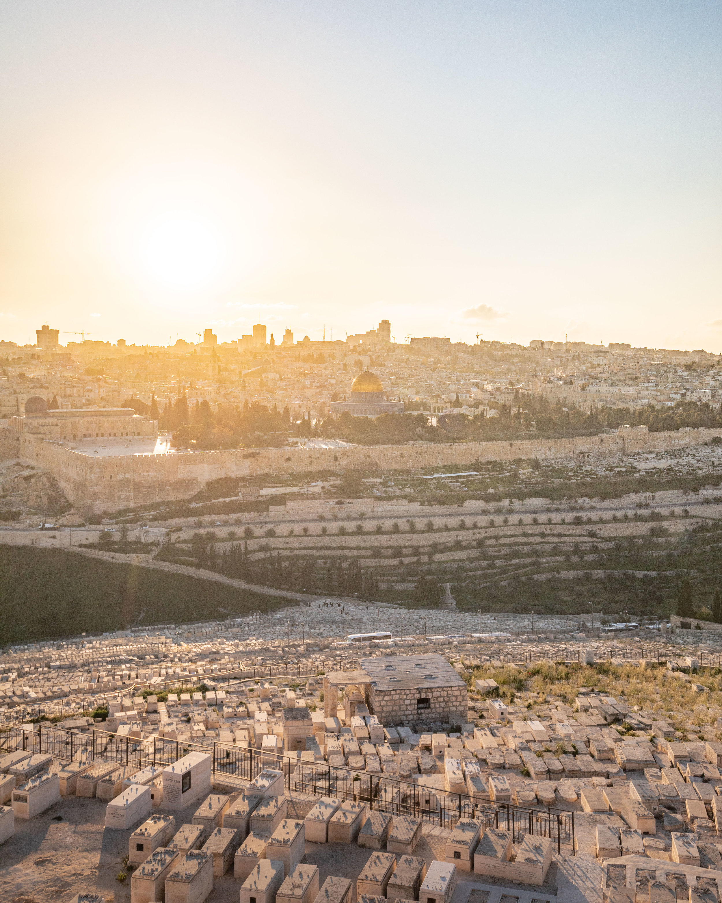 The views from the Mount of Olives