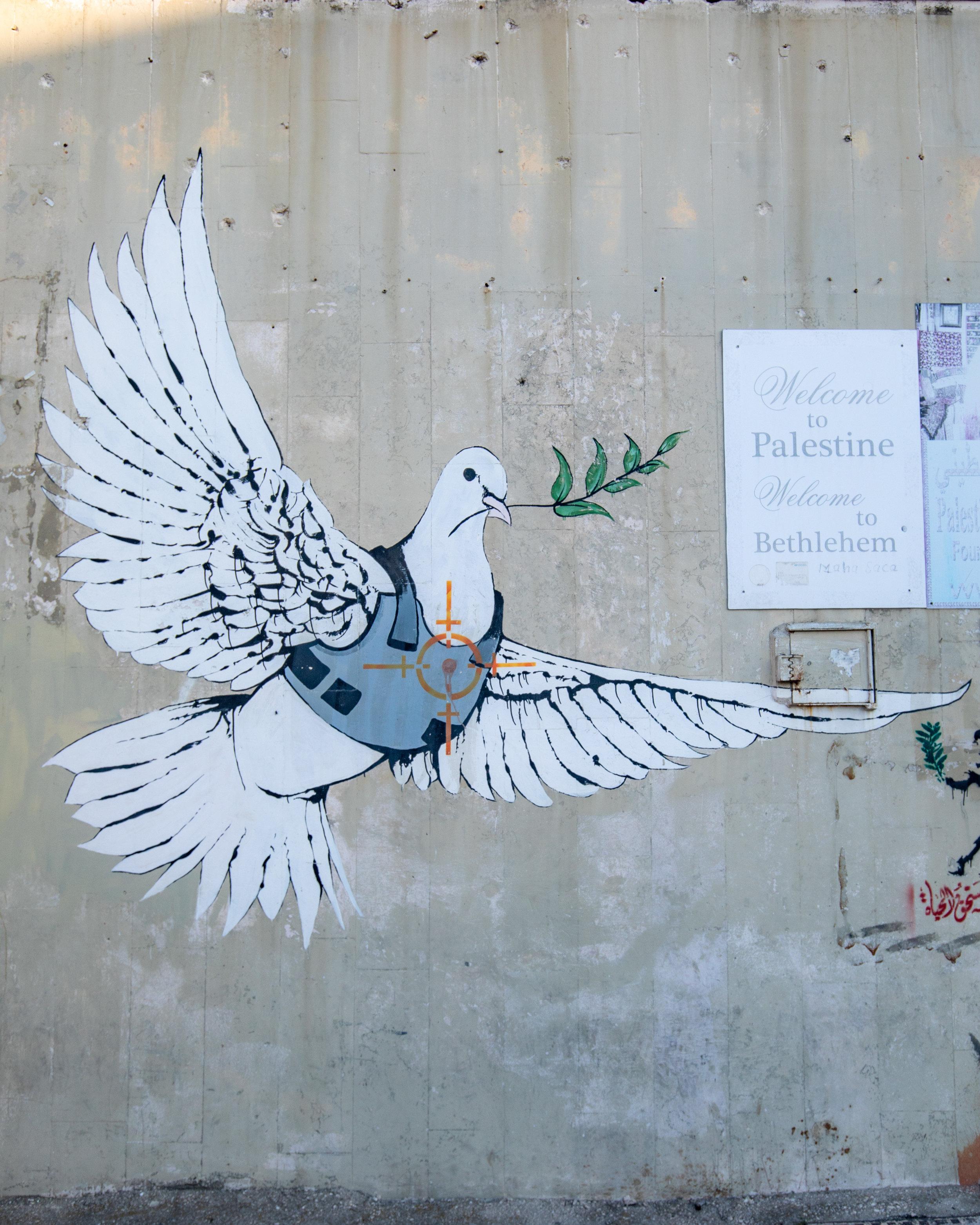 Banksy Art in Bethlehem